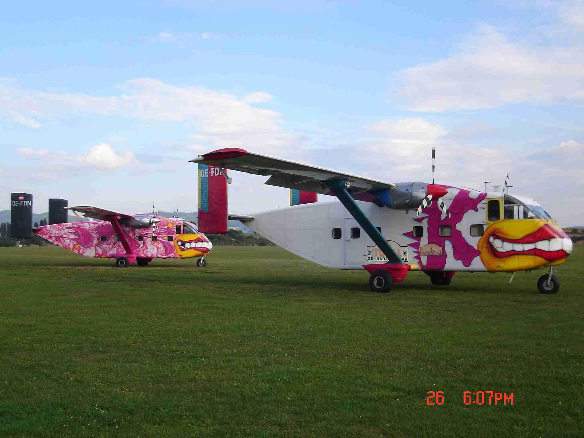 Fallschirmspringen-Flugzeuge